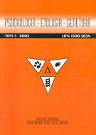 Psychologia etologia genetyka Tom 5/2002