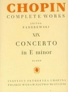 Chopin Complete Works XIX Concerto in E minor