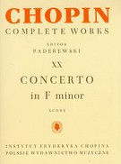 Chopin Complete Works XX Concerto in F minor