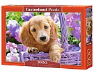 Puzzle 1000 Puppy in Basket