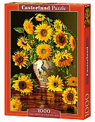 Puzzle 1000 Sunflowers in a Peacock Vase