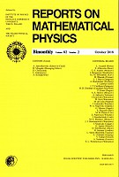 Reports on Mathematical Physics 82/2 Pergamon